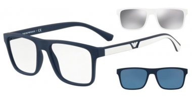 Sunglasses - Emporio Armani - EA4115 - 56691W MATTE DARK BLUE // CLEAR