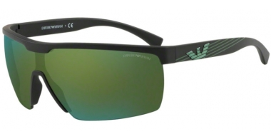 Gafas de Sol - Emporio Armani - EA4116 - 50426R MATTE BLACK // LIGHT GREEN MIRROR PETROLEUM