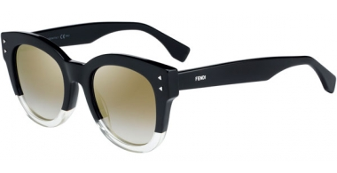 Gafas de Sol - Fendi - FF 0239/S - 71C (FQ) BLACK YELLOW // GREY GRADIENT GOLD MIRROR
