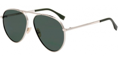 Gafas de Sol - Fendi - FF M0028/S - 3YG (QT)  LIGHT GOLD // GREEN