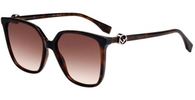 Sunglasses - Fendi - FF 0318/S - 086 (HA)  DARK HAVANA // BROWN GRADIENT
