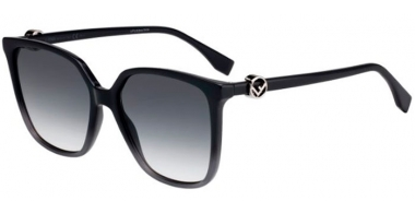 Sunglasses - Fendi - FF 0318/S - KB7 (9O)  GREY // DARK GREY GRADIENT