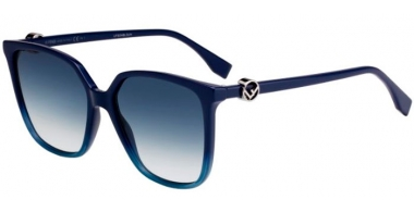 Sunglasses - Fendi - FF 0318/S - PJP (08)  BLUE // DARK BLUE GRADIENT