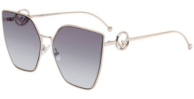 Sunglasses - Fendi - FF 0323/S - 3YG (GB)  LIGHT GOLD // GREY AZURE GRADIENT