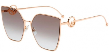 Sunglasses - Fendi - FF 0323/S - DDB (86)  GOLD COPPER // BLACK BROWN GREEN GRADIENT