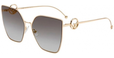 Sunglasses - Fendi - FF 0323/S - FT3 (FQ)  GREY GOLD // GREY GOLD MIRROR GRADIENT