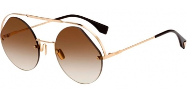 Sunglasses - Fendi - FF 0325/S - 09Q (HA)  GOLD BROWN // BROWN GRADIENT