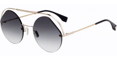 Sunglasses - Fendi - FF 0325/S - KB7 (9O)  LIGHT GOLD GREY // DARK GREY GRADIENT