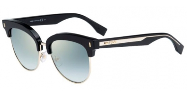 Sunglasses - Fendi - FF 0154/S - VJG (EZ) BLACK // GREEN GRADIENT MIRROR