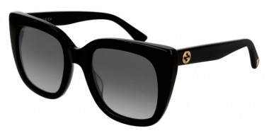 Sunglasses - Gucci - GG0163S - 006 BLACK // GREY GRADIENT POLARIZED