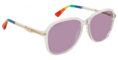 Sunglasses - Gucci - GG0259S - 003 CRYSTAL // VIOLET