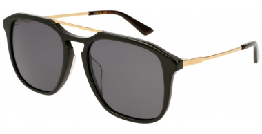 Sunglasses - Gucci - GG0321S - 001 BLACK GOLD // GREY