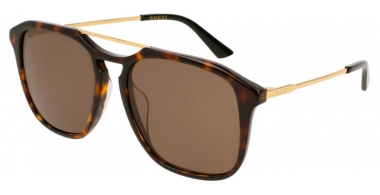 Sunglasses - Gucci - GG0321S - 002 HAVANA GOLD // BROWN