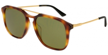 Sunglasses - Gucci - GG0321S - 003 LIGHT HAVANA GOLD // GREEN