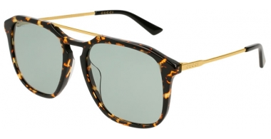 Sunglasses - Gucci - GG0321S - 004 HAVANA GOLD // LIGHT GREEN