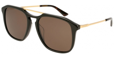 Sunglasses - Gucci - GG0321S - 005 BLACK GOLD // GREY POLARIZED