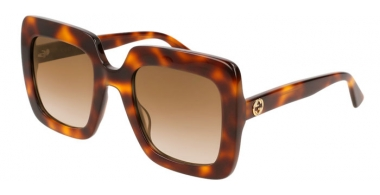 Sunglasses - Gucci - GG0328S - 002 HAVANA // BROWN GRADIENT