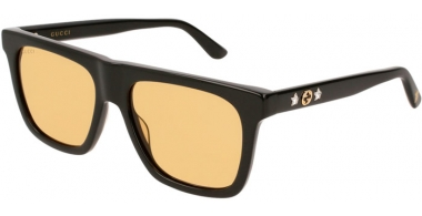 Gafas de Sol - Gucci - GG0347S - 002 BLACK // YELLOW