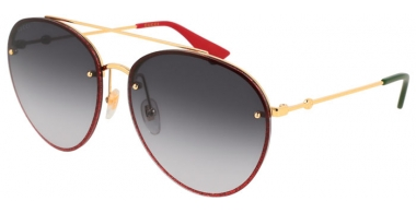 Sunglasses - Gucci - GG0351S - 001 RED GOLD // GREY GRADIENT