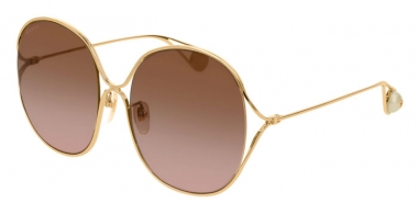 Sunglasses - Gucci - GG0362S - 002 GOLD // BROWN GRADIENT