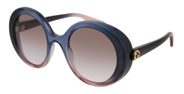 Sunglasses - Gucci - GG0367S - 004 BLUE LIGHT BLUE // LIGHT BROWN GRADIENT