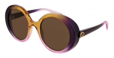Sunglasses - Gucci - GG0367S - 005 VIOLET YELLOW // BROWN