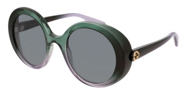 Sunglasses - Gucci - GG0367S - 006 GREEN LIGHT GREEN // GREY