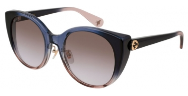 Sunglasses - Gucci - GG0369S - 004 BLUE LIGHT BLUE // BROWN GRADIENT