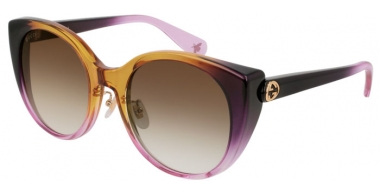 Sunglasses - Gucci - GG0369S - 005 VIOLET YELLOW // BROWN GRADIENT