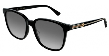 Sunglasses - Gucci - GG0376S - 001 BLACK // GREY GRADIENT