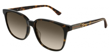 Sunglasses - Gucci - GG0376S - 002 DARK HAVANA // BROWN  GRADIENT
