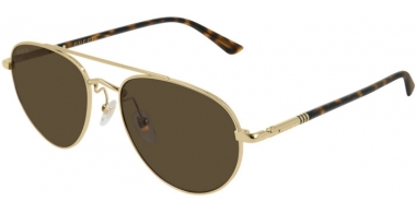 Sunglasses - Gucci - GG0388S - 003 Calibre54 GOLD // BROWN