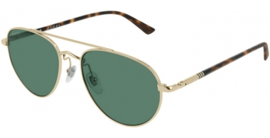 Sunglasses - Gucci - GG0388S - 005 Calibre54 GOLD // GREEN