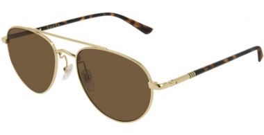 Sunglasses - Gucci - GG0388S - 007 Calibre56 GOLD // BROWN POLARIZED