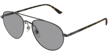 Sunglasses - Gucci - GG0388S - 009 Calibre56 RUTHENIUM // LIGHT GREY