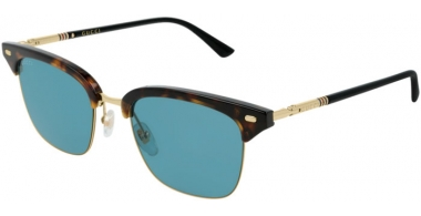 Sunglasses - Gucci - GG0389S - 003 Calibre51 HAVANA BLACK // BLUE