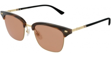 Sunglasses - Gucci - GG0389S - 005 Calibre51 STRIPED BROWN BLACK // BROWN