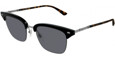 Sunglasses - Gucci - GG0389S - 006 Calibre53 BLACK HAVANA // GREY