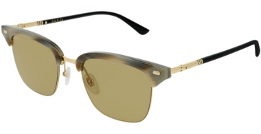 Sunglasses - Gucci - GG0389S - 009 Calibre53 STRIPED GREEN BLACK // GREEN