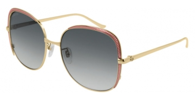 Sunglasses - Gucci - GG0400S - 001 GOLD LIGHT PINK // GREY GRADIENT