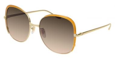Sunglasses - Gucci - GG0400S - 002 GOLD YELLOW // BROWN GRADIENT