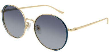 Sunglasses - Gucci - GG0401SK - 003 GOLD BLUE // GRADIENT BLUE