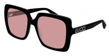 Gafas de Sol - Gucci - GG0418S - 002 BLACK // LIGHT PINK