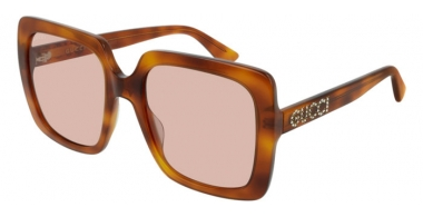 Gafas de Sol - Gucci - GG0418S - 005 HAVANA HONEY // LIGHT PINK