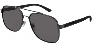 Gafas de Sol - Gucci - GG0422S - 001 RUTHENIUM BLACK // GREY