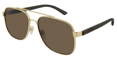 Gafas de Sol - Gucci - GG0422S - 003 GOLD BROWN // BROWN