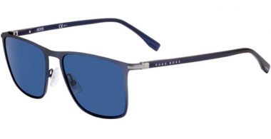 Sunglasses - BOSS Hugo Boss - BOSS 1004/S - FLL (KU)  MATTE BLUE // BLUE GREY