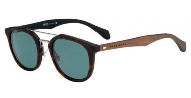 Sunglasses - BOSS Hugo Boss - BOSS 0777/S - RBH (UC) BLACK DARK BROWN // GREEN POLARIZED