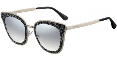 Sunglasses - Jimmy Choo - LIZZY/S - FT3 (IC)  GREY GOLD // GREY GRADIENT SILVER MIRROR