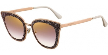 Sunglasses - Jimmy Choo - LIZZY/S - YK9 (JL)  BURGUNDY COPPER GOLD // BROWN GRADIENT GOLD MIRROR